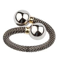 anillo acero oro