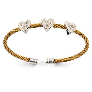 pulsera acero oro