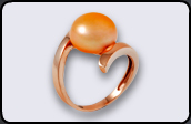 sortija oro perla