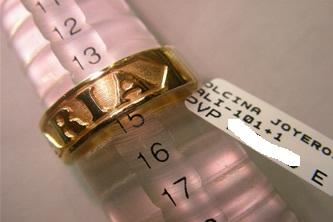 sortija nombre oro plata