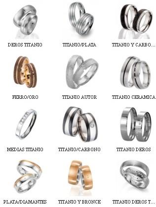 ca5035f6f4e5 alianzas combinadas titanio-ceramica-carbono-ferro-bronce-paladio-plata-