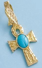 cruz de la vida egipcia oro plata