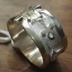 anillo cartucho egipcio personalizado