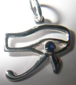 colgante ojo horus oro plata