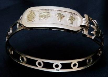 pulseras rigidas egipcias personalizadas