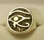 sello ojo horus oro plata