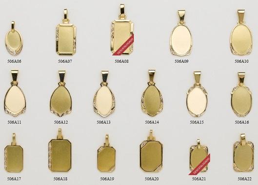 chapas placas oro
