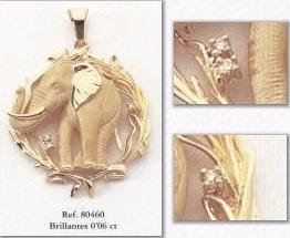 colgante elefante diamantes joyas madrid