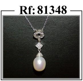 colgante perla diamantes joyas madrid