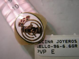 sello real madrid oro plata