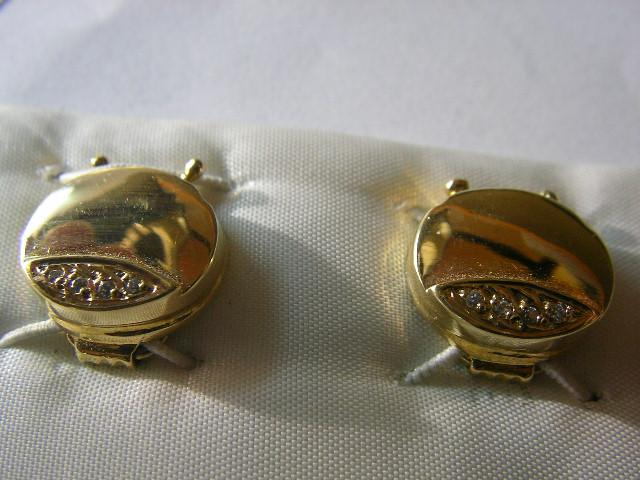 cubrebotones gemelos oro plata