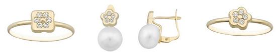 pendientes comunion perlas oro