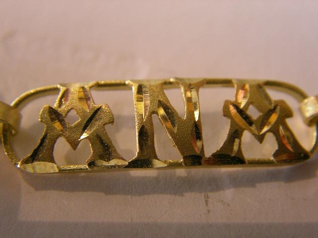 nombre colgante oro plata