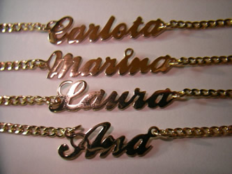pulseras collares nombres