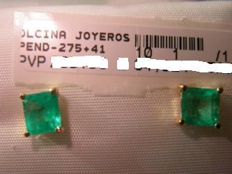 pendientes esmeralda