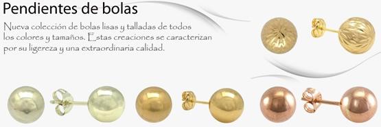 pendientes bolas oro plata