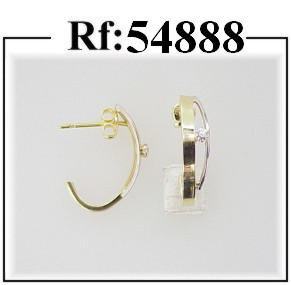 pendientes oro circonitas