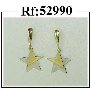 pendientes oro estrella