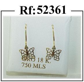 pendientes oro mariposa