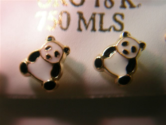 pendientes panda