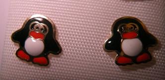 pendientes pinguino