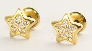 pendientes bebe nina oro plata estrella