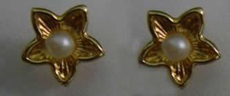 pendientes estrella perla