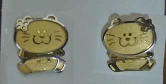 pendientes gato bicolor