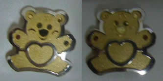 pendientes oso bicolor