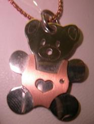 colgante oso corazon
