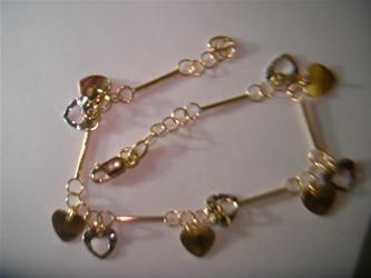 pulseras finas de oro y plata