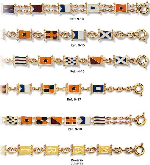 pulseras banderas letras nauticas