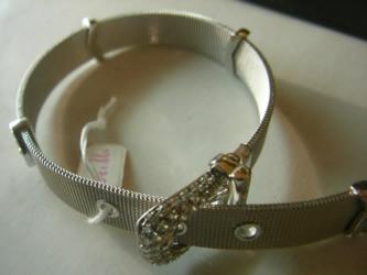 pulsera cinturon oro