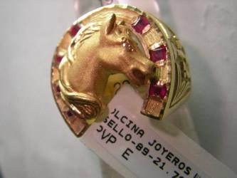 sello herradura oro plat