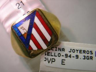 sello atleti oro plata esmalte