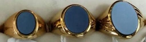 sellos agata ovales oro madrid