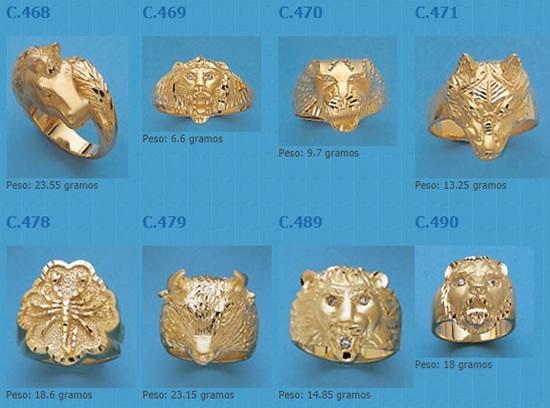 sellos animales oro plata