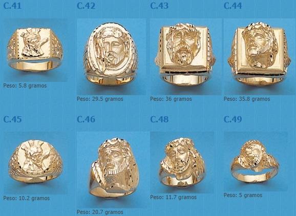 sellos cristos oro plata