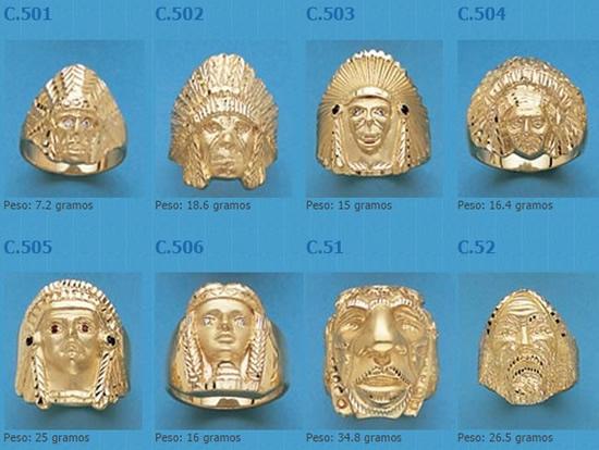 sellos indios oro plata