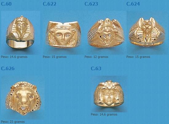 sellos egipcios oro plata