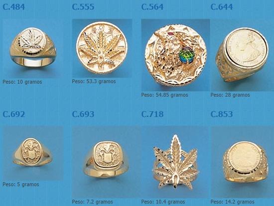 sellos maria oro plata